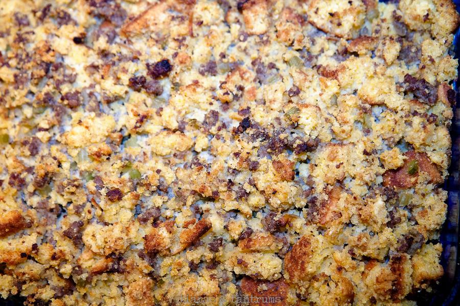 Homemade Cornbread Sausage Stuffing #CornbreadStuffing #Stuffing #ThanksgivingStuffing