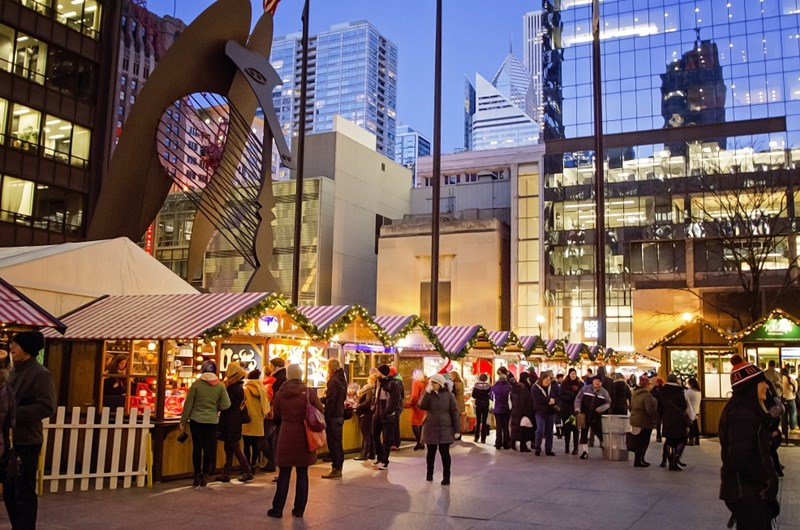 Chicago Guide to the Holidays Christkindlmarket holiday market in Chicago