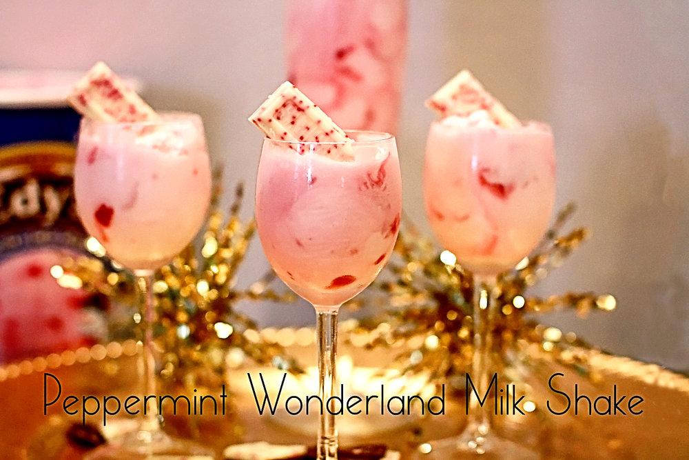 Peppermint Wonderland Ice Cream Milkshakes