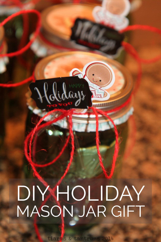 DIY Holiday Mason Jar Gift #MasonJarGift