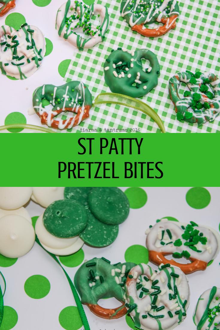 St Patty Pretzel Bites #StPattyPretzelBites #PretzelBites #stpatricksdaytreats