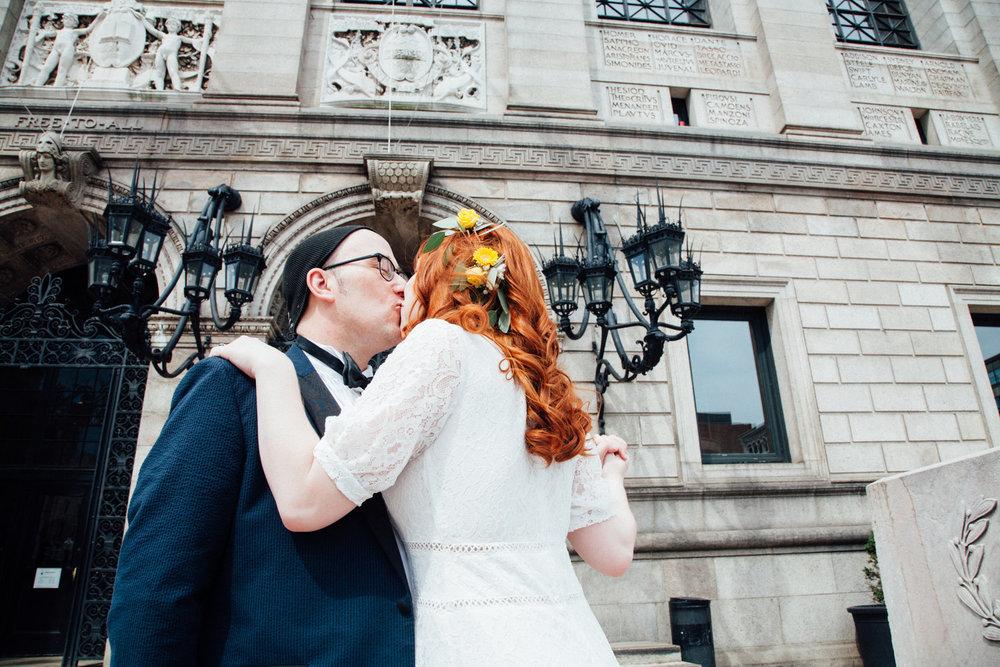 Katie + Ben at their Boston Public Library wedding (Boston, MA)