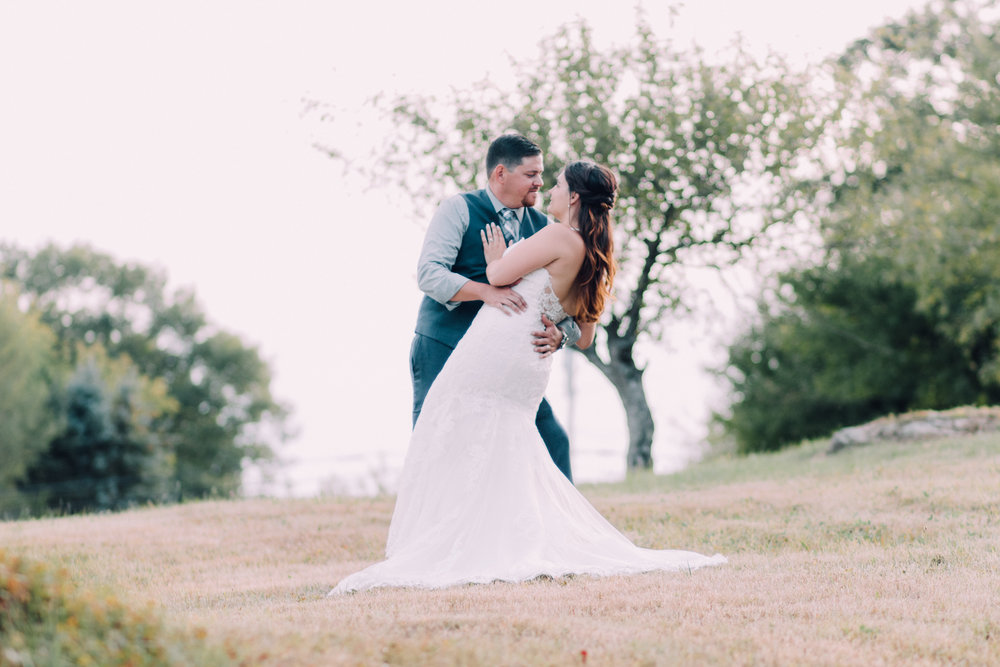 Kayla + Scott at their intimate backyard wedding (Waterboro, ME)
