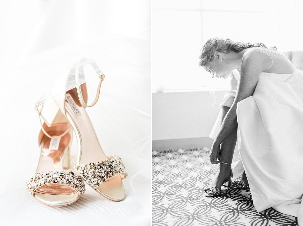Anna's stunning Badgley Mischka wedding shoes