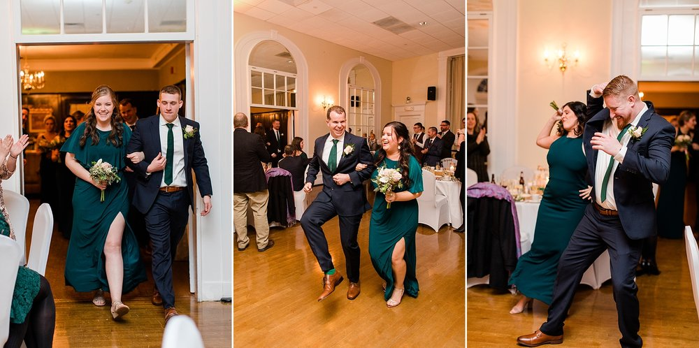 This wedding party's energy came in HOT! They had the entire crowd fired up