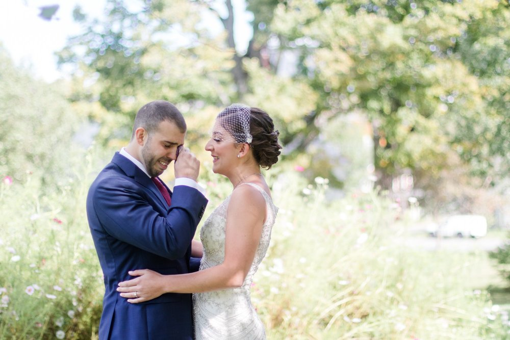 Catalina + Ryan share an intimate moment during their first look at The Curtis House with Gloriosa & Co. (Ashfield, MA)