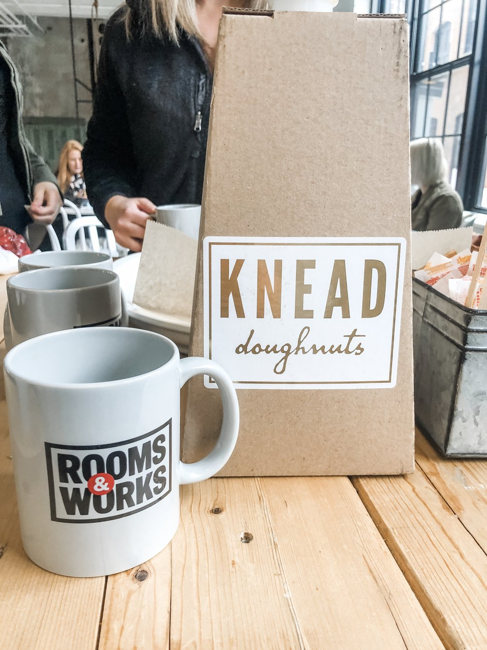 We loved having Rooms & Works mugs to use for our coffee!