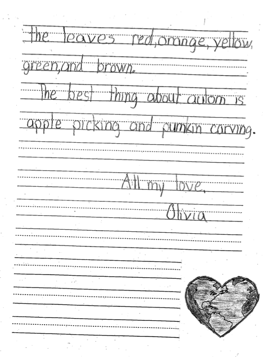 Letter by a St. Thomas Aquinas School student