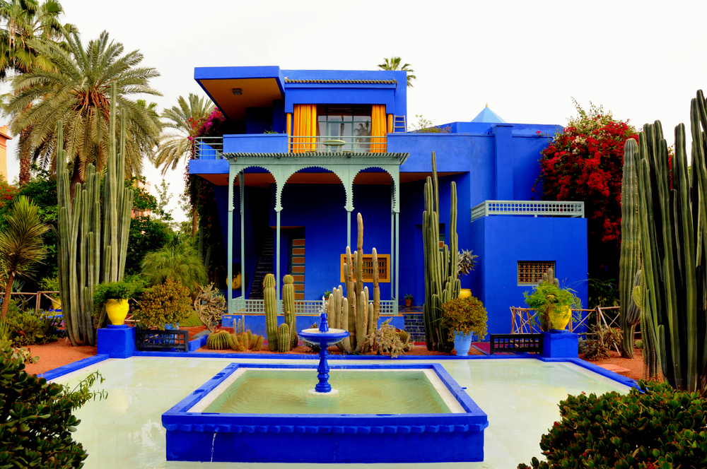 Majorette Gardens (Jardin Majorelle) an oasis amidst the hustle and bustle of Marrakech.