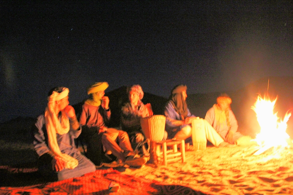 Berber Camp Fire Tales. Photography by Juan Botero