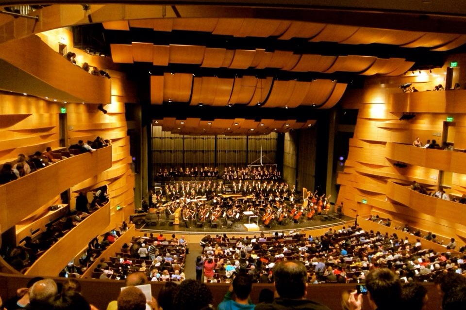 "csun symphony performing ""carmina burana"" at the valley performing arts center."