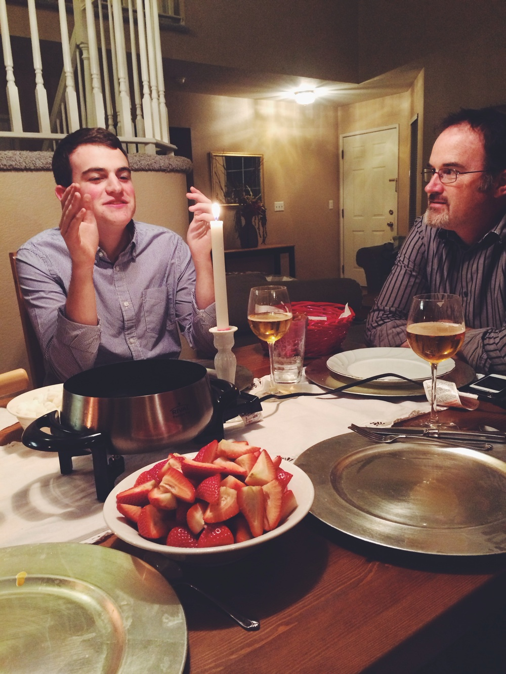 brother and dad are the same person. twin personalities.