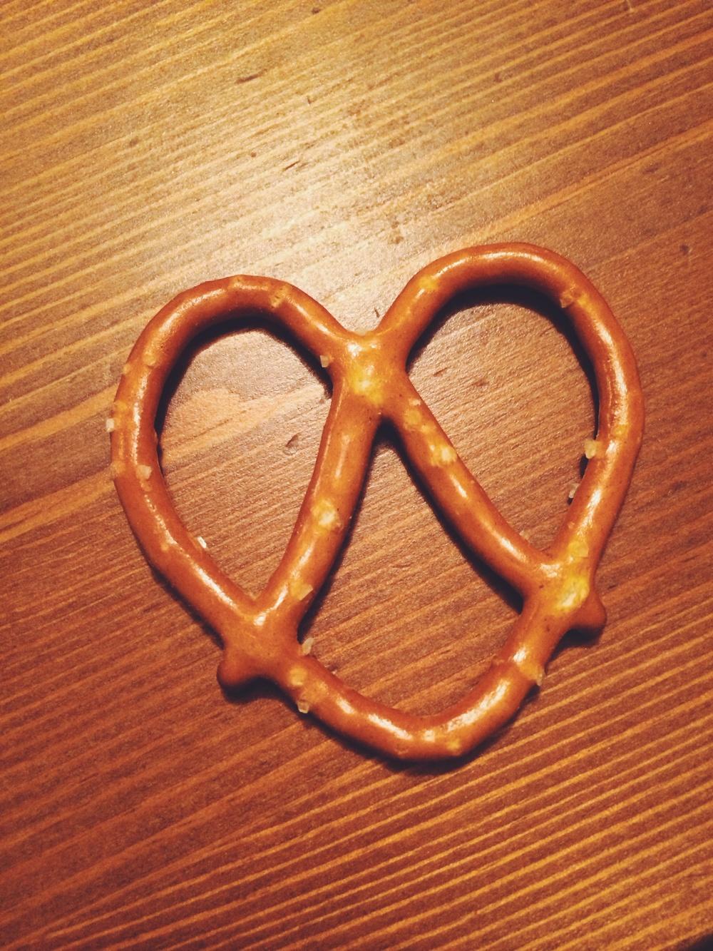 it's a love pretzel!