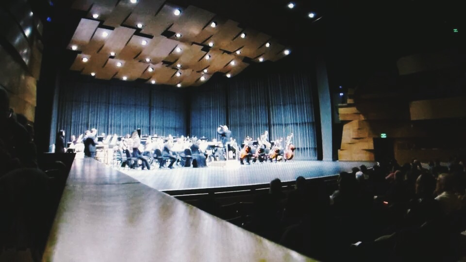 again, a picture stolen from my professor. the symphony playing pines of rome.