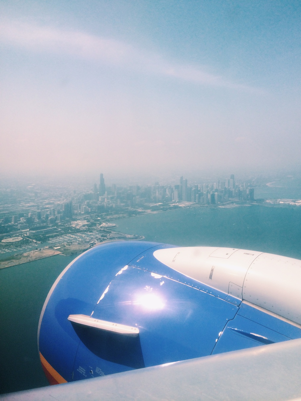 landing in the windy city