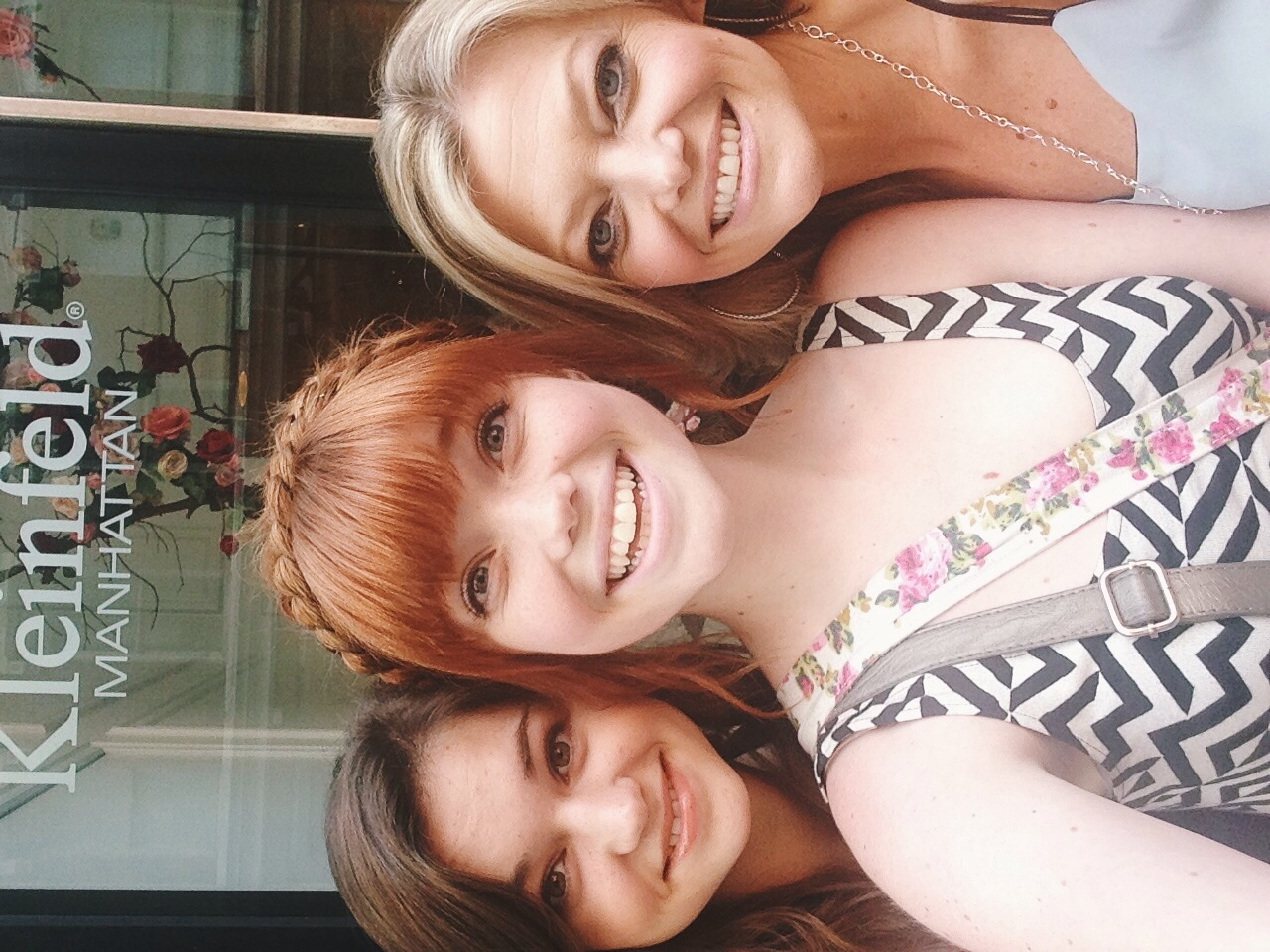 a blonde, a brunette and a red-head...