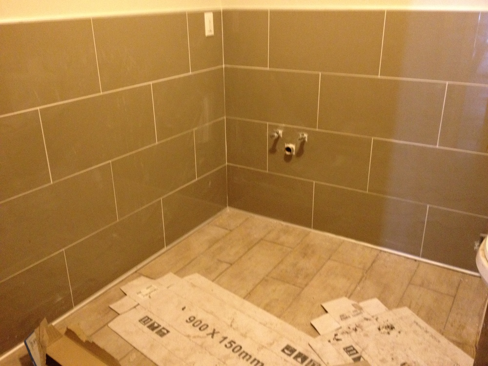 Bathroom tiling work