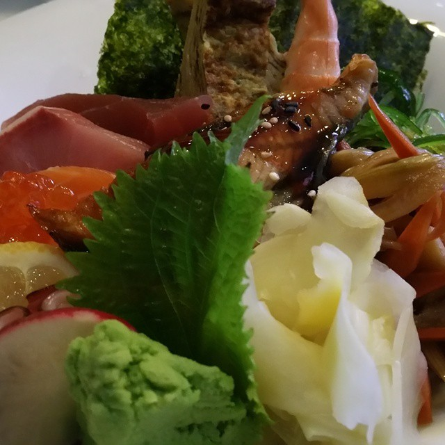 have a chirashi at #iprive #foodie  #foodporn #sushi #yum