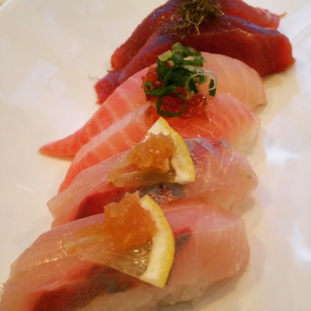 tai snapper, hamachi, toro at #iprive #chefsofinstagram