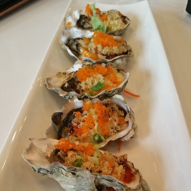 grilled oysters at #iprive #chefsofinstagram #yum #foodie #oyster