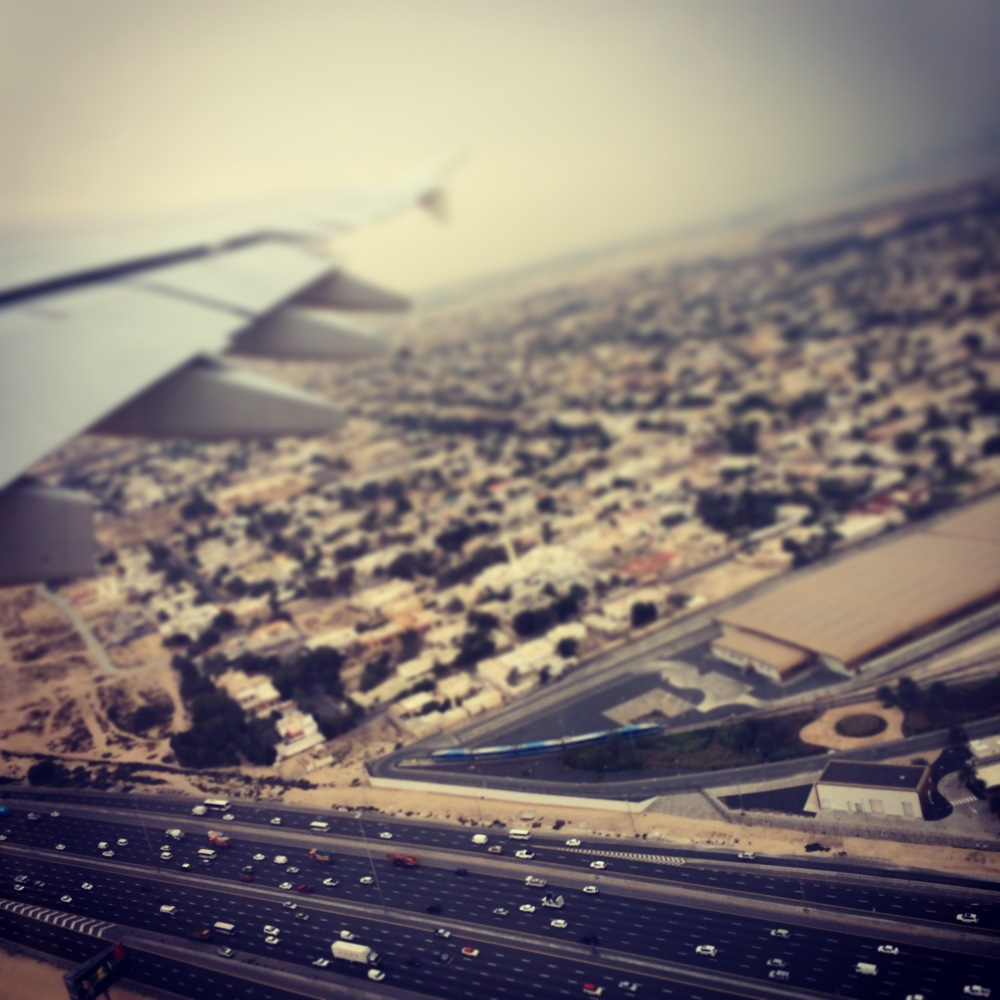 View after take off, Dubai