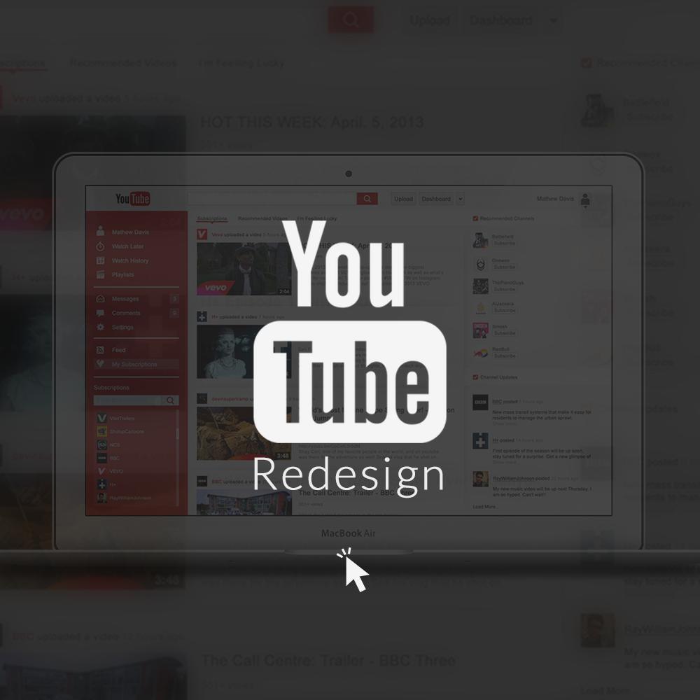 Poster design youtube - Youtube Concept Website