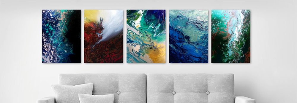 Metal Prints - Prints of Paintings on magnet mounted Steel
