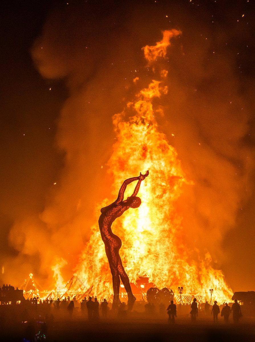 Burning Man at night |  Photo by Trey Ratcliff