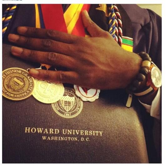 Japhet Hammond proudly sported his Empowerment Beads as he graduated from Howard.