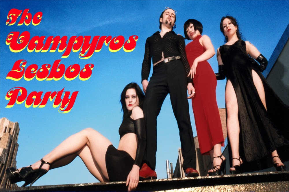 A promotional flyer of Frank's Vampyros Lesbos party when he lived in NYC around 1998.