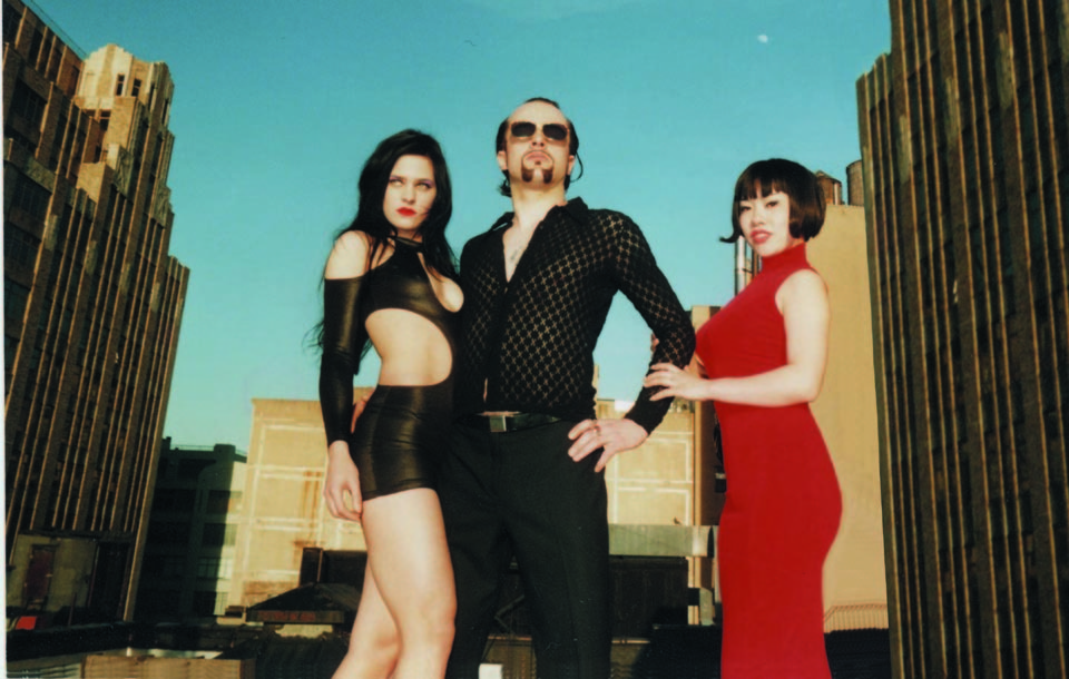 A photo with Frank and his go-go girls. NYC, 1998