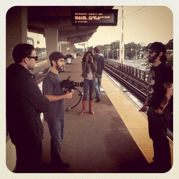 Behind the scenes from our video shoot (Taken with instagram)