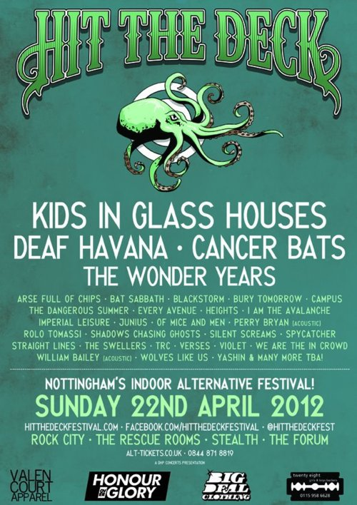 Tickets for HIT THE DECK FEST on 22 Apr in Nottingham are on sale now, get 'em while you can igotpicturesinadrawer: Going to this for The Wonder Years, The Swellers, I Am the Avalanche and Spy Catcher. Stoked!