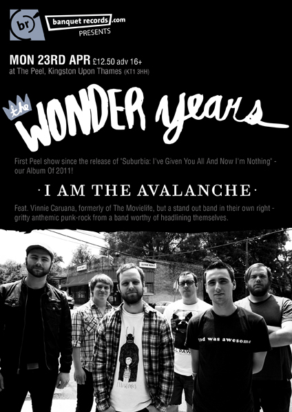 We're playing The Peel in Kingston, UK on April 23 with The Wonder Years…tickets on sale on Monday (Jan 30) at 11 am GMT here: http://www.banquetrecords.com/peeltwy