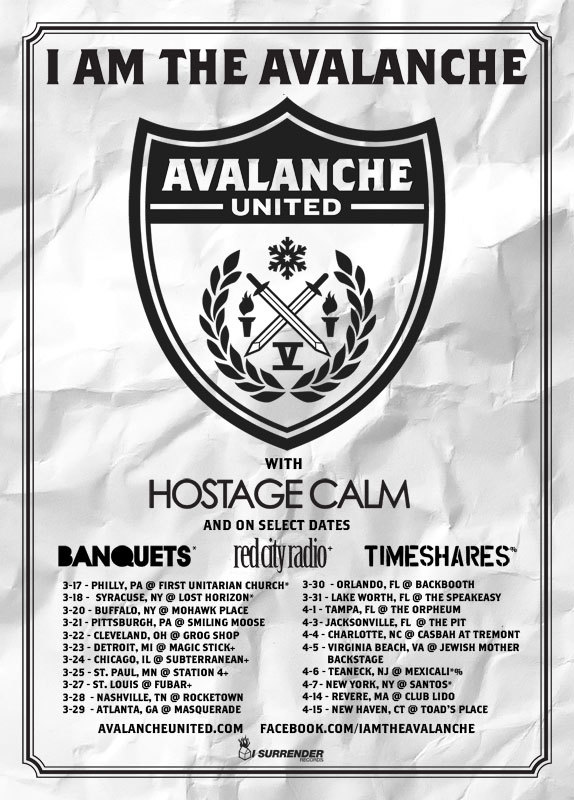 Philly, Syracuse, Buffalo, Pittsburgh, Cleveland and Detroit: we're coming for you next week. Are you ready for us??? All our US headline shows (w/Hostage Calm, plus Banquets, Timeshares and Red City Radio on various dates along the way) are listed HERE