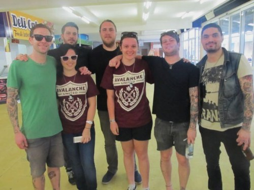 friends Down Under, representing Avalanche…sweet strikingout: Myself and Kristen with I Am The Avalanche.