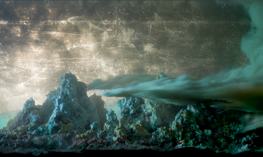 eroding mountains // kim keever