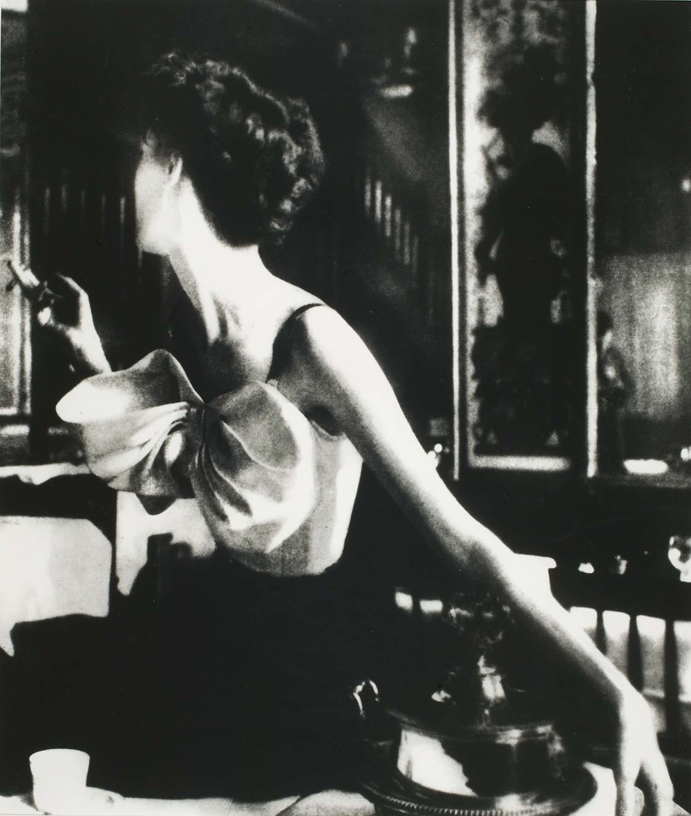 Across the Restaurant. Barbara Mullen in a dress  Le Grand Vefour, Paris, 1949, Edition of 25, 30 x 40, .JPG