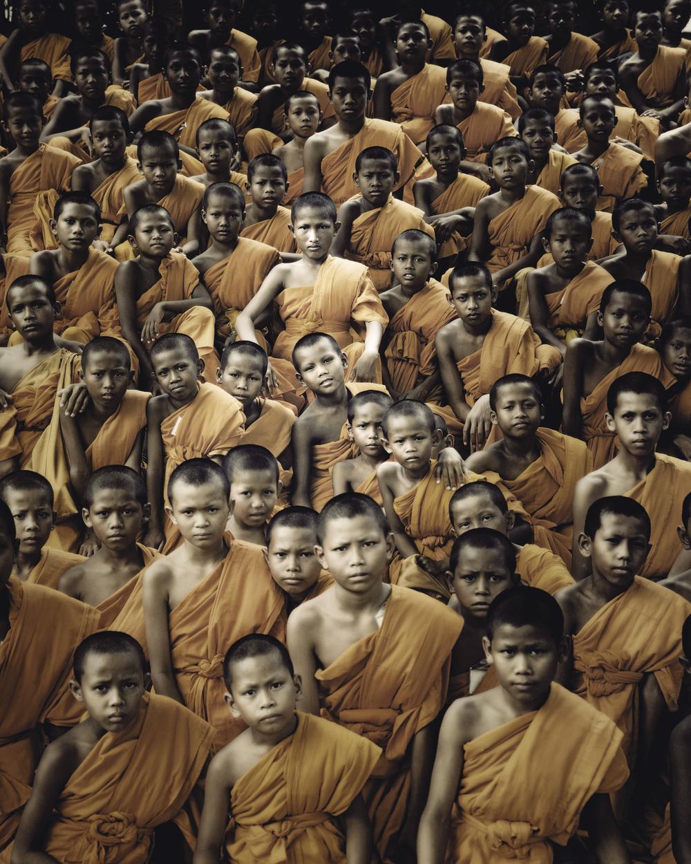 jimmy nelson // xix 330 buddhist monks ganden monastery tibet, 2011