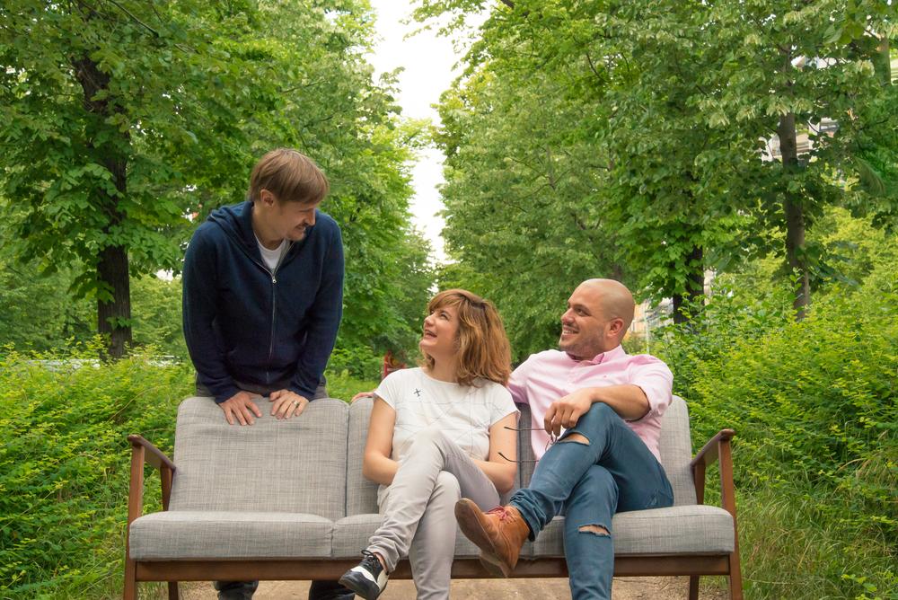 (Left to right) Per zennström, creative director | lisi badia, art director | justin merino, founder & managing director.