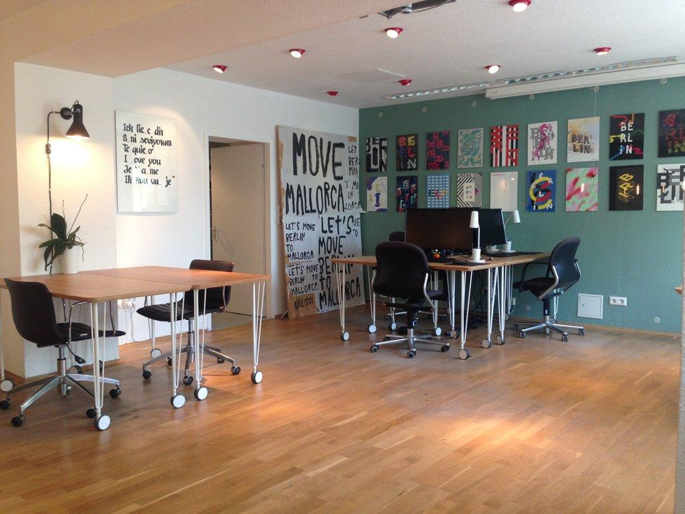 main coworking area
