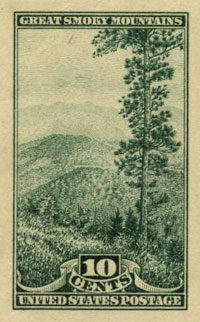 One of the stamps in the National Park Series, 1934.