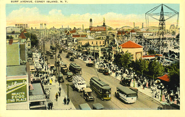 Coney Island postcard, circo 1920's.