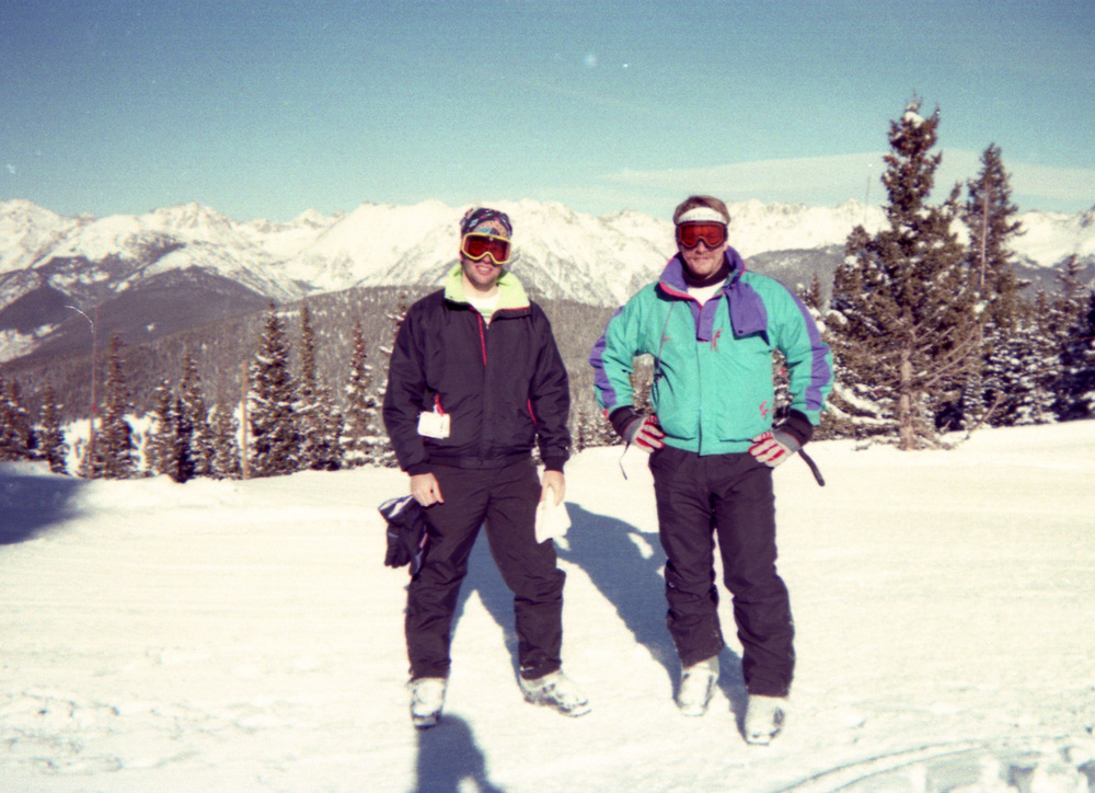 Me and Mike, in Vail some time around 1994.