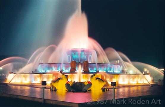 Buckingham Fountain, Chicago, 1986