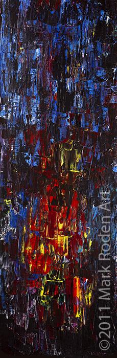 """Texas Heat 2011  30"""" x 10"""" Acrylic On Canvas"""