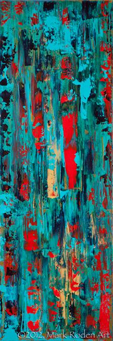 "Last Reflections  30"" x 10"" Acrylic On Canvas"