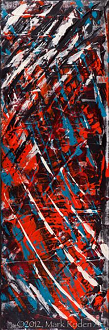 "Nitro  30"" x 10"" Acrylic On Canvas"