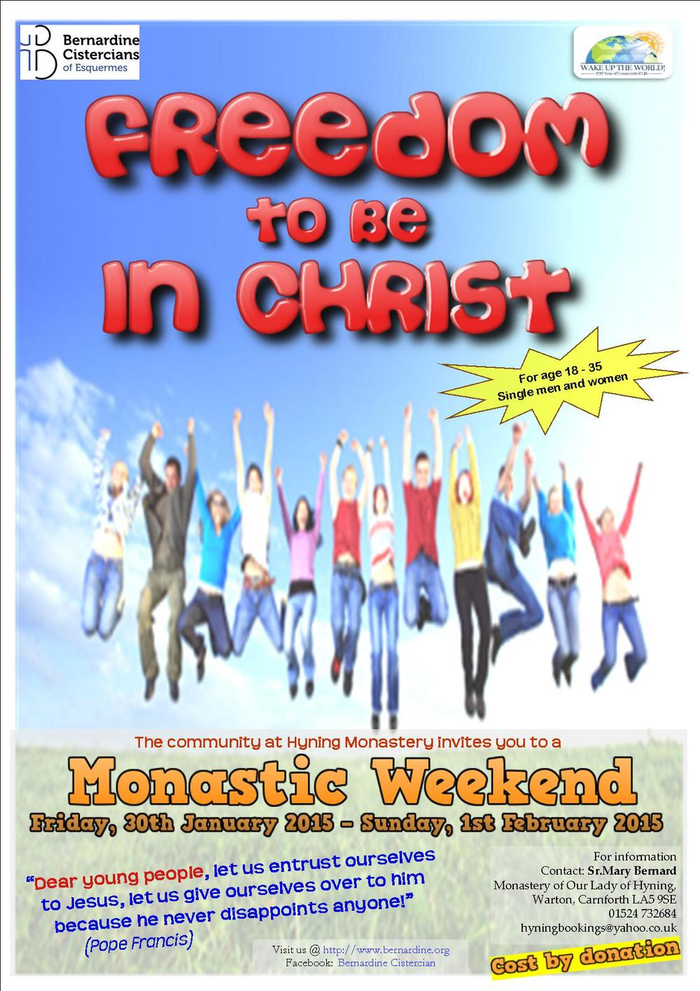 With respect to those who could not come for the event for any reason, be sure that we are pleased if you would help us to spread and forward this invitation to the appropriate ones. By doing so, we surely take part in the responsibility of the Church. Pray also that this event may encourage young people to respond to God's love and encourage all parents to offer a generous heart in supporting their children to live a consecrated life. God bless you!