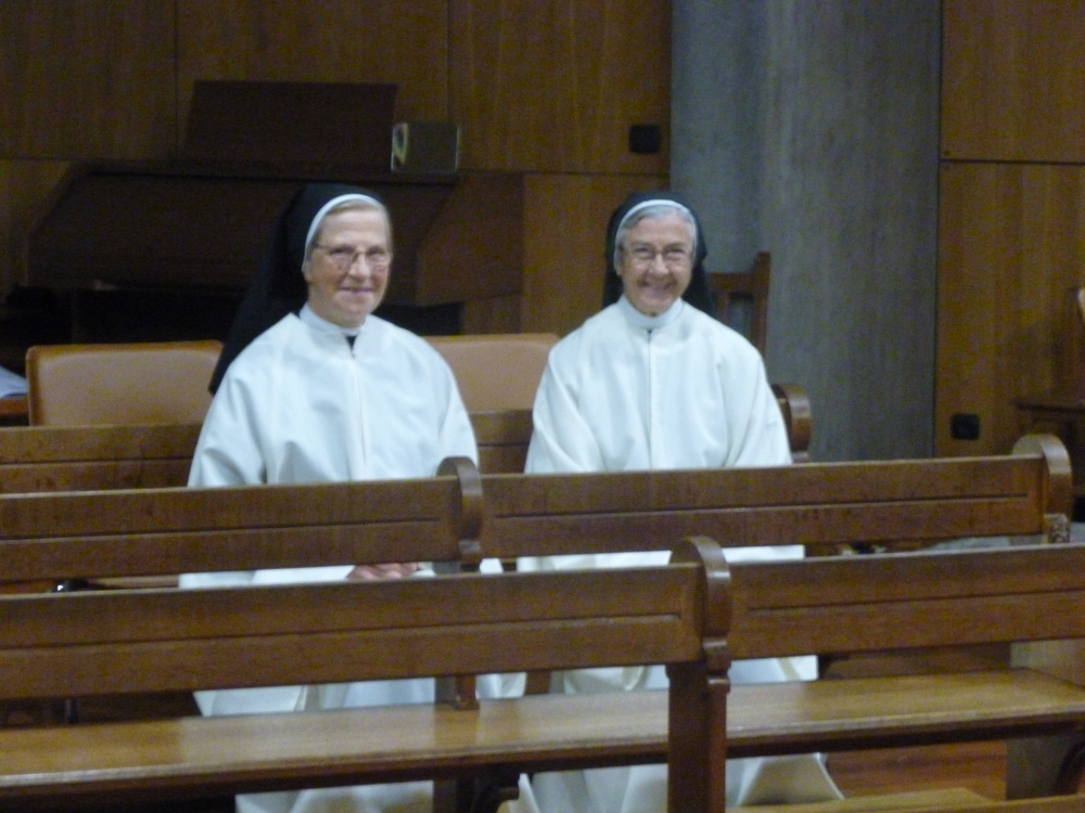 Two of the sisters in choir.  Recent images are included in the slideshow below.